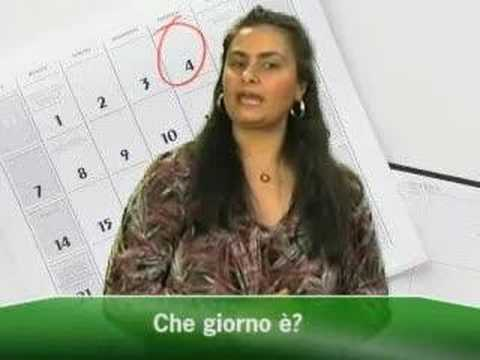 Learn Italian Vocabulary Words Learn The Days Of The Week