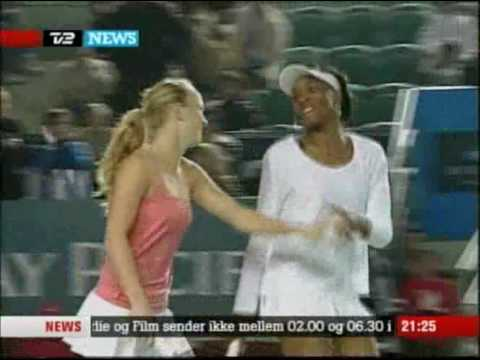 Caroline Wozniacki Venus Williams Doubles Victory.