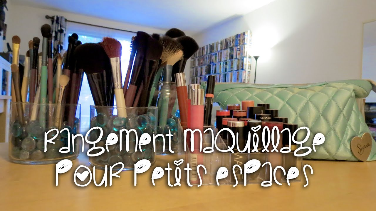 rangement maquillage pour petits espaces youtube. Black Bedroom Furniture Sets. Home Design Ideas