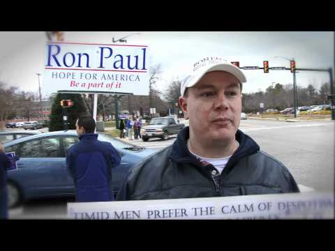 Ron Paul Sign Wave #1: Williamsburg, Virginia