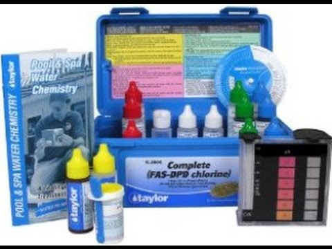 How To Test Swimming Pool Chlorine W Taylor Pool Water Test Kit Youtube