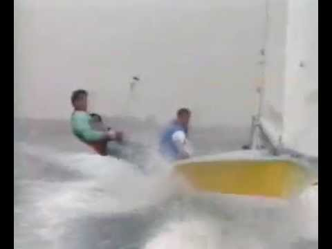 505 sailing crash Video