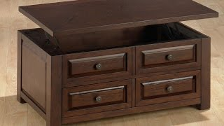 Dark Brown Coffee Table With Drawers