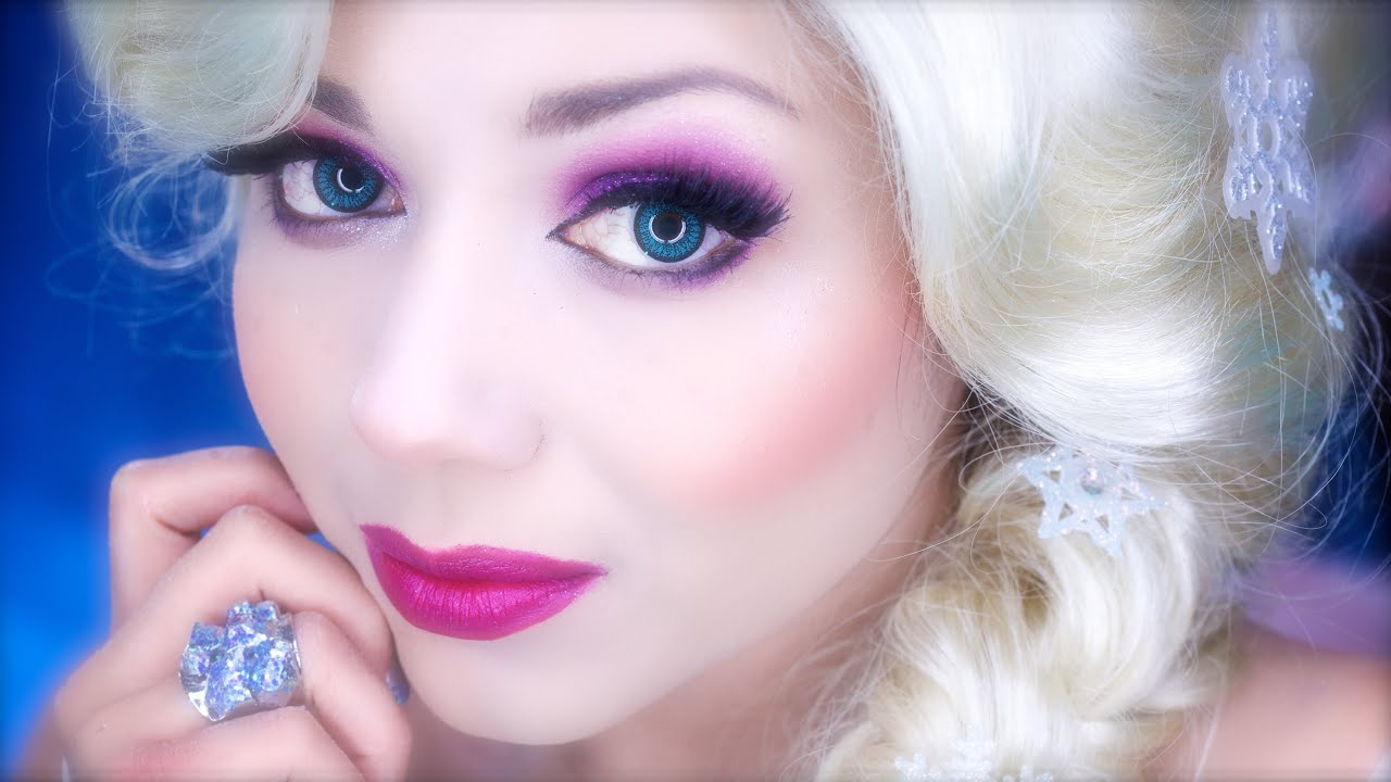 Elsa Inspired Makeup From