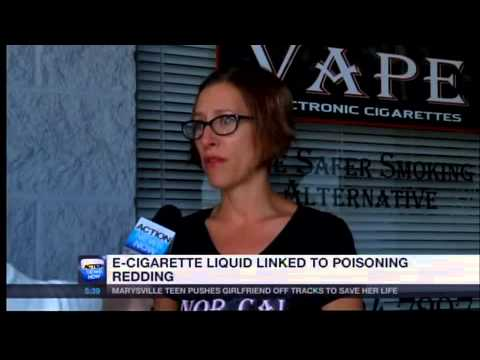 E-cigarette liquid linked to poisoning