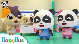 Baby Kitten is Scared of Hospital   Be A Brave Kid   Doctor Pretend Play   Panda Cartoon   BabyBus