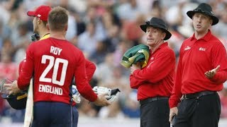 England's Jason Roy Given Out For Obstructing The Field Vs South Africa