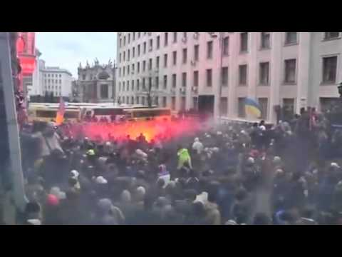 Mass protests turn violent in Ukraine   Video VIA   Reuters com