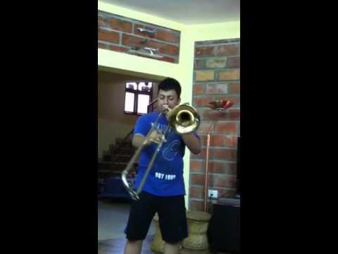 Trombone practice - Zindagi milke bitayenge