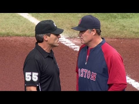 BOS@TB: Red Sox challenge out call in the 1st inning