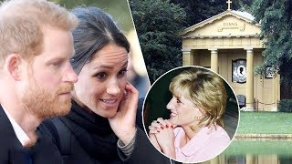 Emotional Meghan visits Princess Diana's resting place with Prince Harry