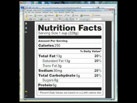 Nutrition Facts Maker 2.0