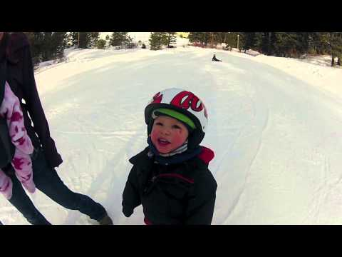 World Record Youngest Skier. Rohan McClaran 1 year old