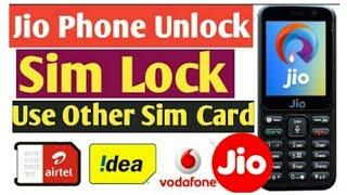 How To Unlock Jio Phone Sim Lock & Use Other Sim Card Airtel Idea Vodafone Jio Phone Network Unlock