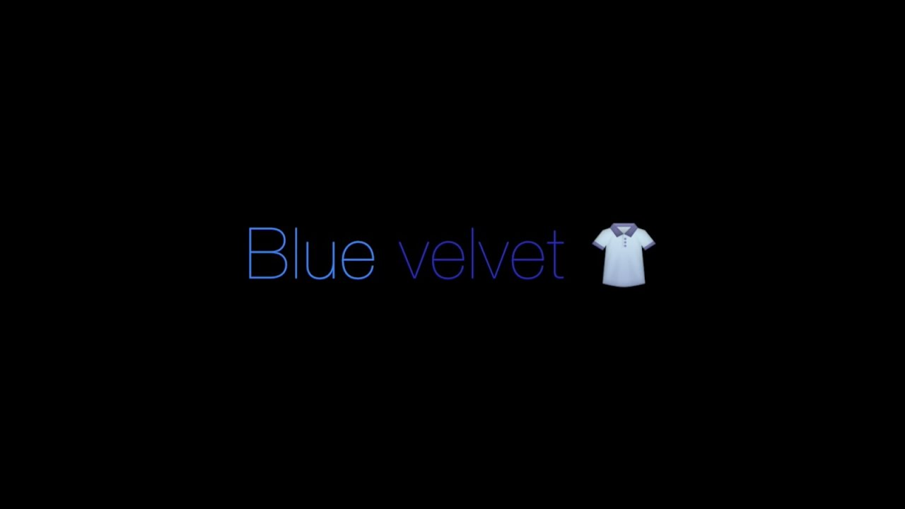 Lana Del Rey - Blue Velvet Lana Del Rey Transparent Black And White