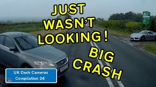UK Dash Cameras - Compilation 24 - 2019 Bad Drivers, Crashes + Close Calls