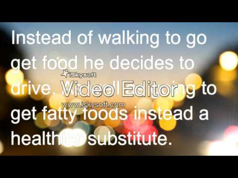 The sedentary obesity lifestyle (health psa)
