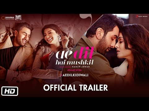Ae Dil Hai Mushkil | Trailer | Karan Johar | Aishwarya Rai Bachchan | Ranbir Kapoor | Anushka Sharma thumbnail