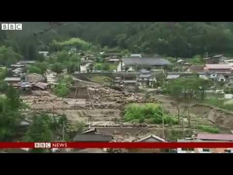 BBC News Rain caused by Japan's Neoguri creates fatal landside