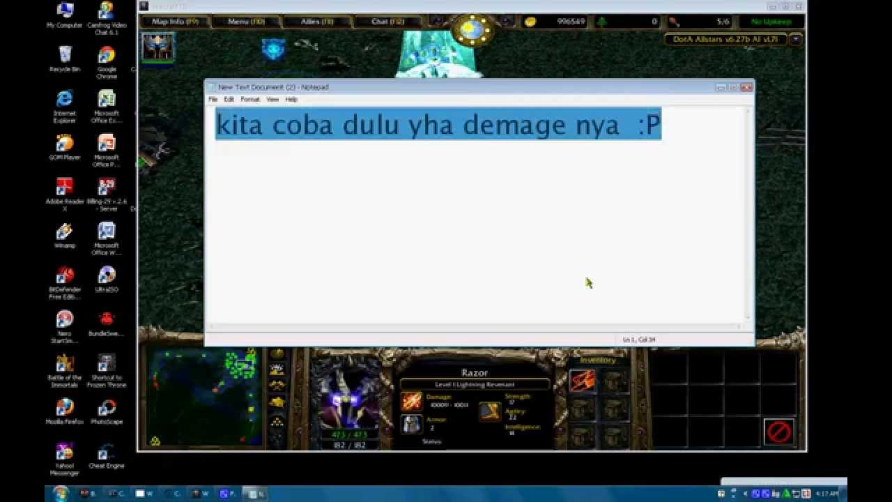 Hack Dota Frozen Throne 3 Moneydamagen Level YouTube