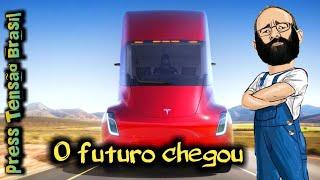 172 | Caminhão elétrico Tesla | Apresentação com legendas em Português