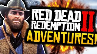 "Red Dead Redemption 2: Funny Moments! - #1 - ""EXPLORING THE LAND!"" - (RDR2 Adventures)"