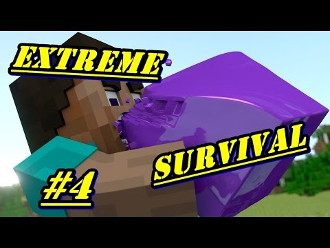 Minecraft PE - EXTREME SURVIVAL - EP. 4 [ Малката ни къща ]