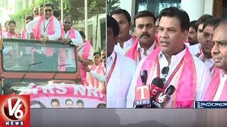 TRS Plenary | TRS NRI Representatives Wish CM KCR Over Federal Front Move
