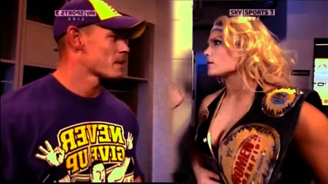 Wwe Kaitlyn And John Cena Kiss Johneth - Smile