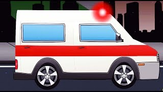 Per Femije Me Makina |Car Cartoon for Kids with Ambulance and Police Cars - Monster Truck For Kids