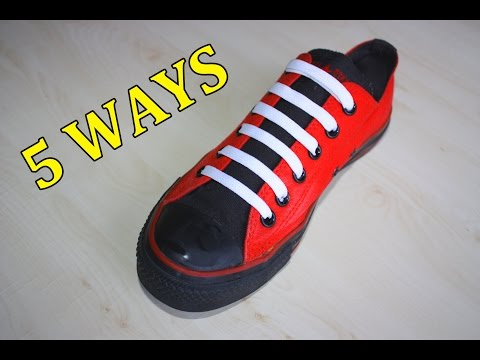 5 Creative Ways to fasten Shoelaces | MrGear