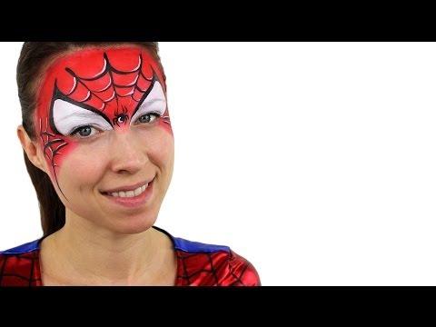 Spiderman Face Paint Tutorial
