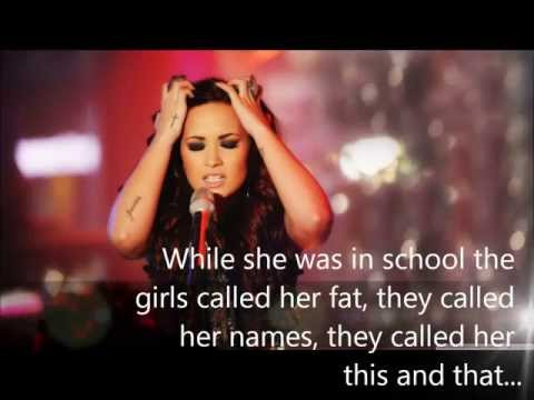Demi Lovato; Bullying Story In Words.