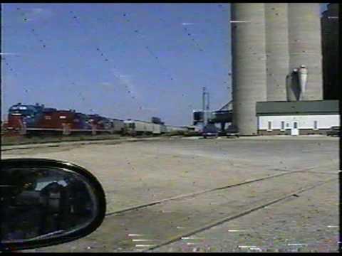 ... Elevator Colby Kansas HATX Kansas & Oklahoma Railroad grain train