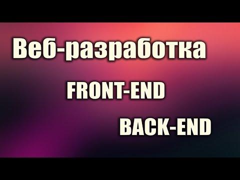 Что такое веб разработка. Что нужно знать. Что такое front-end. Что такое back-end. Для начинающих.