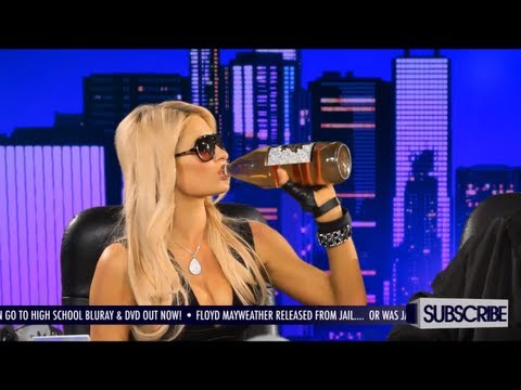 Paris Hilton Drinks Her First 40oz Beer - Ggn News: S4 Ep. 5 video