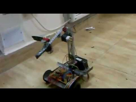 Control of robotic arm by object tracking using webcam