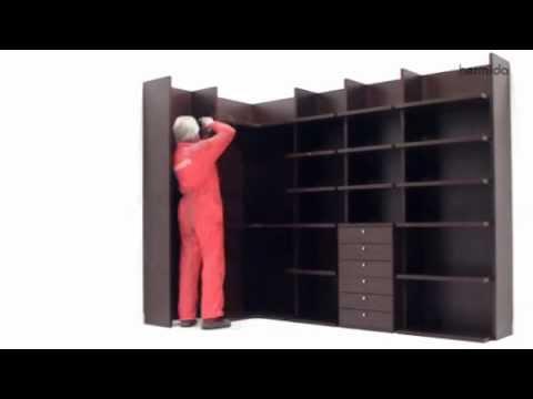 C mo montar un armario vestidor abierto youtube - Como montar un armario empotrado ...