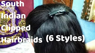 South indian style clipped braid | Side clipped braid |Clipped hair braid | loose braid | Hairstyles