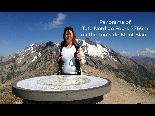 Panormama of Tete Nord de Fours 2500m on the Tour de Mont Blanc