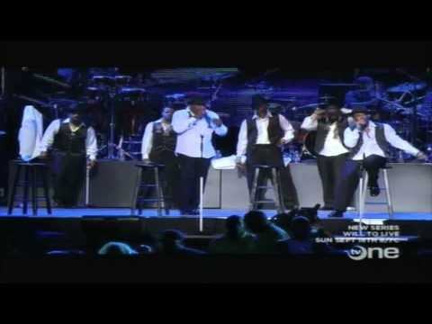 New Edition performing at Essence Music Fest 2011