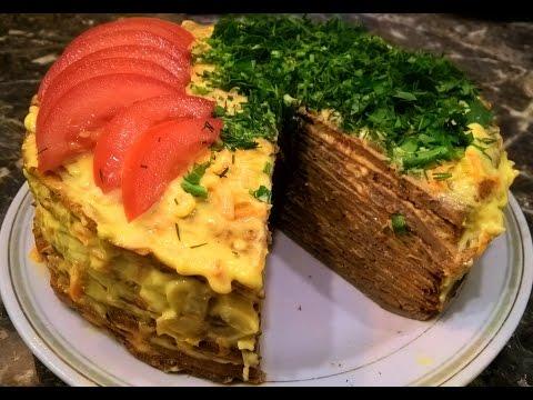 Печеночный торт из куриной печени (говяжьей, свиной) рецепт пошагово.
