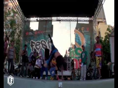 Bboy Sandy power tricks Festibal Breking Venezuela Eliminatoria 2014