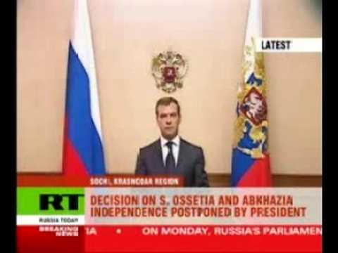 Russia Officially recognizes South Ossetia and Abkhazia