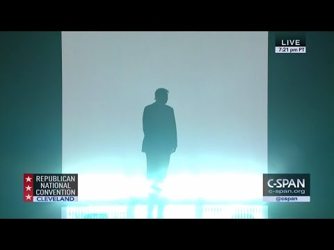 Donald Trump Entrance at GOP Convention (C-SPAN)