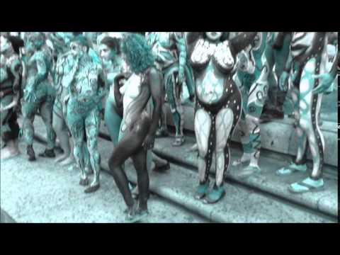 New York Nude Body Painting Day, Columbus Circle, July 26, 2014