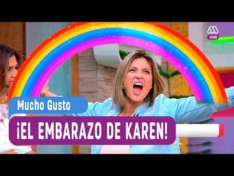La historia del embarazo de Karen Bejarano - Mucho Gusto 2016