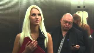 Hot blonde and dick stuck in elevator