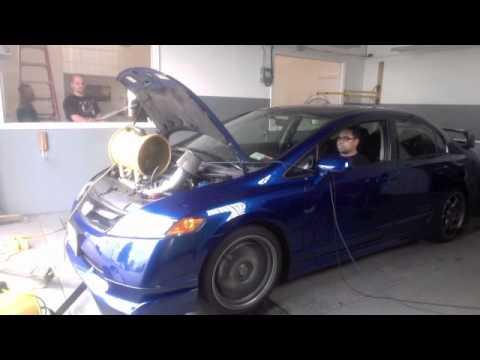 2008 Honda Civic Mugen Si on the dyno at Powerhouse.