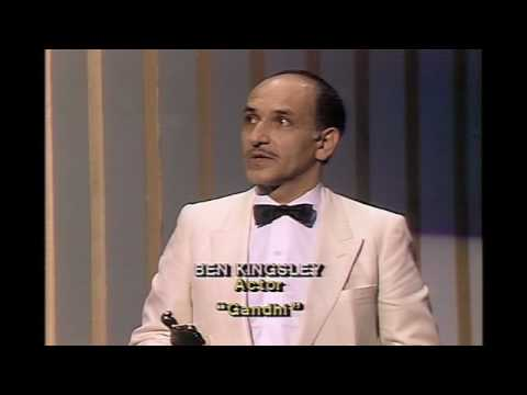 "Ben Kingsley winning  Best Actor for ""Gandhi"""